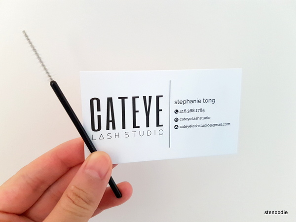 Cateye Lash Studio business card