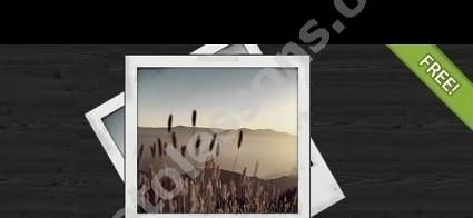 Photoshop frame for photos in PSD format
