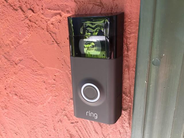 Installed Ring Doorbell II
