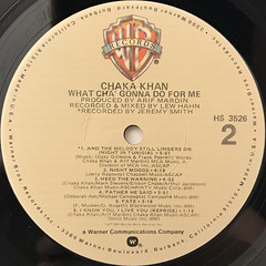 CHAKA KHAN:WHAT CHA' GONNA DO FOR ME(LABEL SIDE-B)