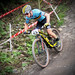 Belgian rider Jens  Schuermans descends the