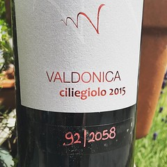 It's been over 6 weeks since these arrived all the way from Italy. That's enough waiting , time to enjoy a glass or two of #valdonica ciliegiolo tonight