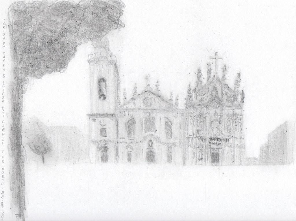 Igreja do Carmo & Igreja dos Carmelitas : dessin terminé