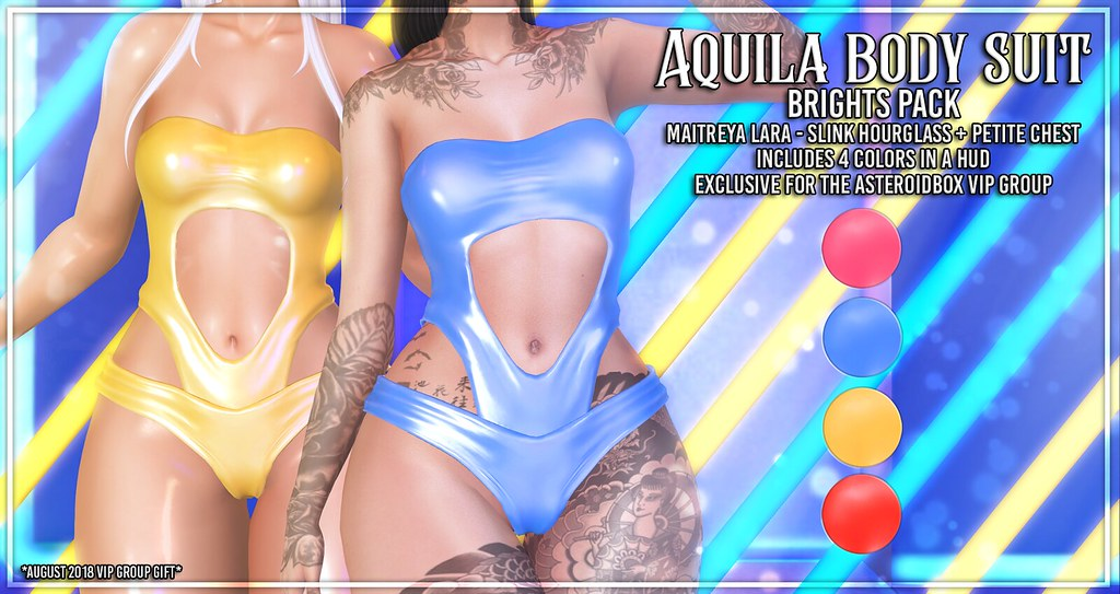 AsteroidBox. Aquila Body Suit – Brights Pack – VIP GROUP GIFT