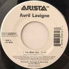 AVRIL LAVIGNE:I'M WITH YOU(LABEL SIDE-A)
