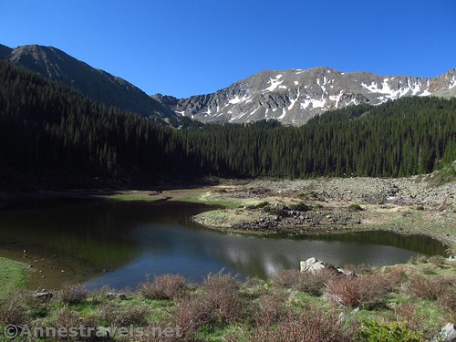 Williams Lake - it's very low due to the light snowfall last winter. Carson National Forest, New Mexico