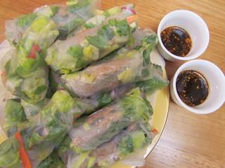 Lentil Pate Banh Mi Salad Rolls
