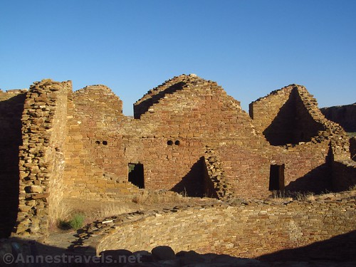 Sunrise (or nearly) at Pueblo del Arroyo in Chaco Culture National Historical Park, New Mexico
