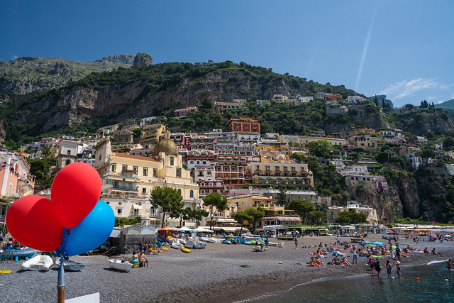 Balloons at Positano Beach