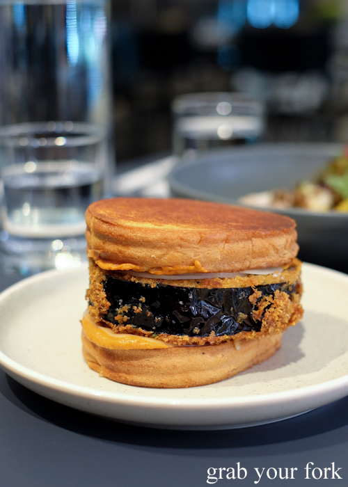 Fried eggplant sandwich at A1 Canteen by Clayton Wells in Chippendale Sydney