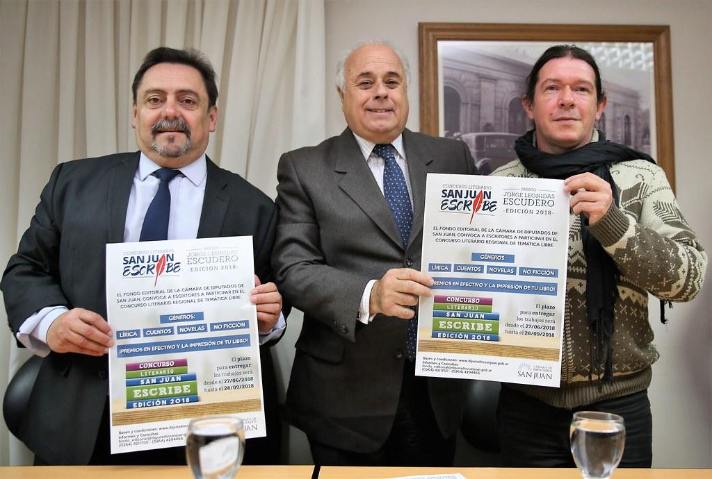 "Cámara de Diputados: Lanzaron el Concurso Literario ""San Juan Escribe"""