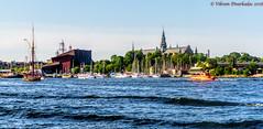 Vasa and Nordiska Museet from Djurgraden ferry, Stockholm