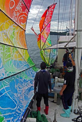 japan kyushu kumamoto yatsushiro ashikita utasefune fishing boat