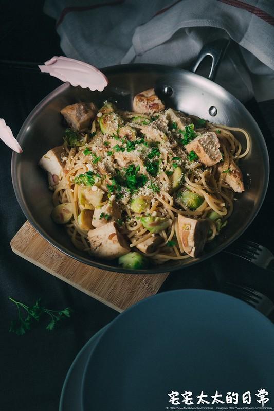 料理食譜,檸檬雞肉義大利麵,清冰箱料理 @陳小可的吃喝玩樂