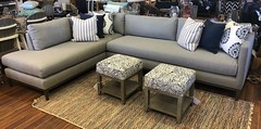 LEE Industries Sectional and Braxton Culler Element Cube Ottomans