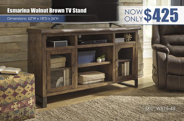 Esmarina TV Walnut Brown Stand_W815-48
