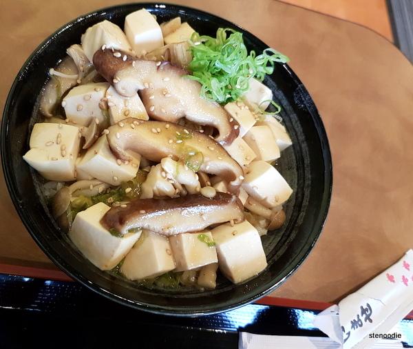Tofu Mushroom Don