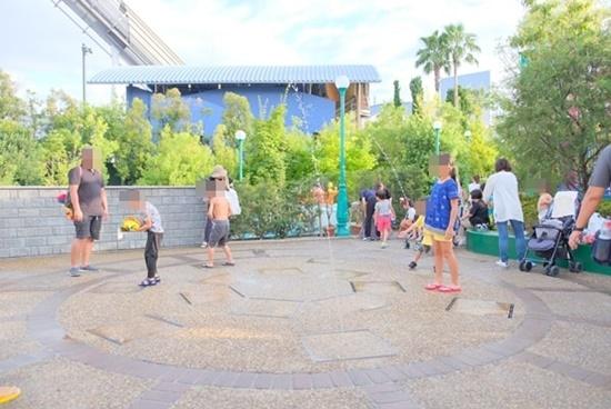 USJ水遊びスポット 噴水
