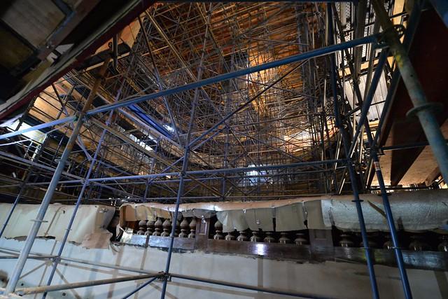 Avanzan las obras de restauración del Teatro del Libertador