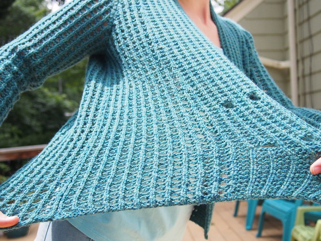 sweater made of holes!