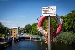 Rettungsring an der Juliusturmbrücke