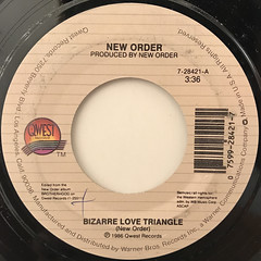 NEW ORDER:BIZARRE LOVE TRIANGLE(LABEL SIDE-A)