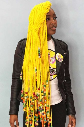 Yellow Crochet Braids