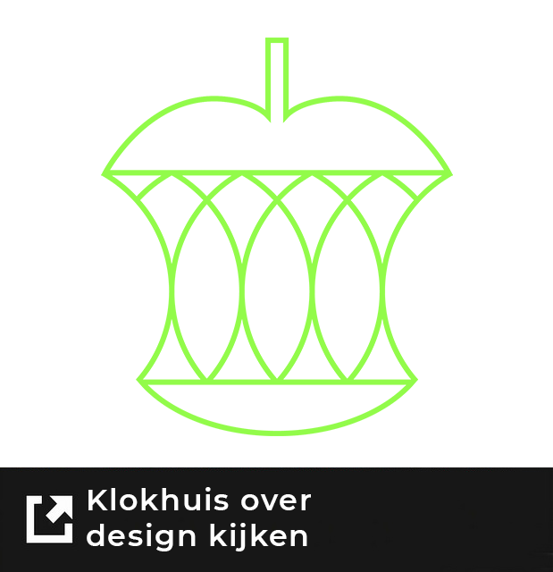 Klokhuis over design knop