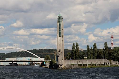 Monument Albert 1er et l'Île Monsin (Liège 2018)