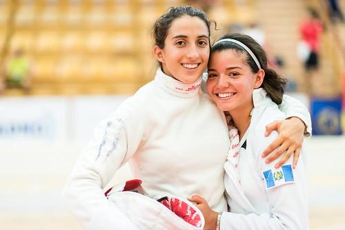 Sofía Cabrera y Sophia Hernández oro relevo Mundial Junior de Pentatlón (fotos UIPM)