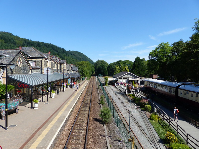 This is a picture of betws-y-coed railway station