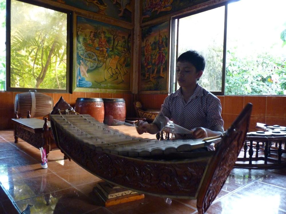 A roneat ek played near Siem Reap, Cambodia. Photo taken on December 26, 2010.