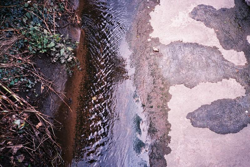 Looking down at Brislington Brook
