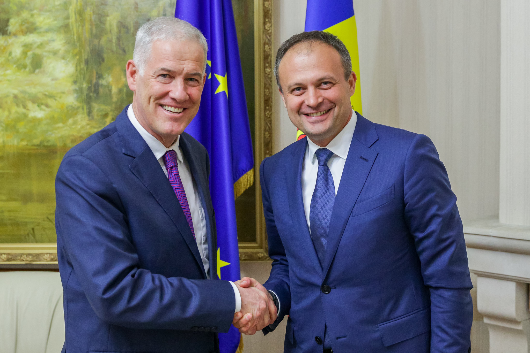 08.08.2018 Președintele Parlamentului a discutat cu Șeful Misiunii OSCE în Moldova, Michael Scanlan