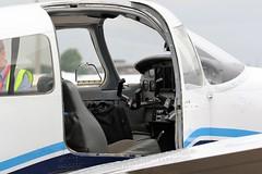 G-GHKX PIPER PA-28 WARRIOR - DOOR OPEN NEWCASTLE AIRPORT