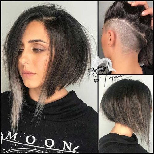 Latest Bold & Daring Asymmetrical Bob Haircuts+40 Shapely Styles 12