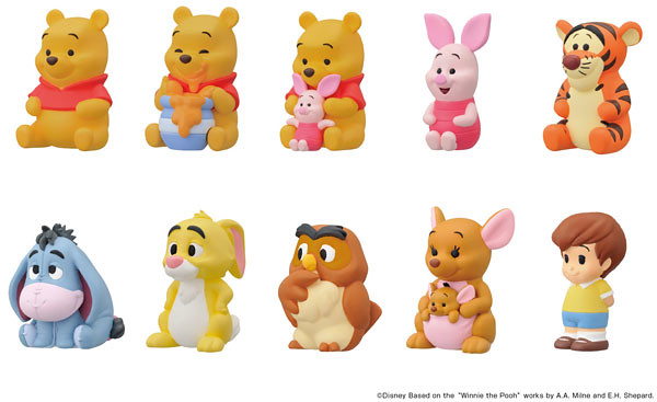 ENSKY 《小熊維尼》角色指偶盒玩 可愛登場! くまのプーさん ソフビパペットマスコット 10個入りBOX