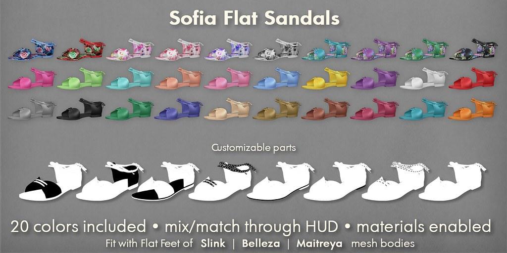 Mutresse@C88 August 2018 – Sofia Flat Sandals Info
