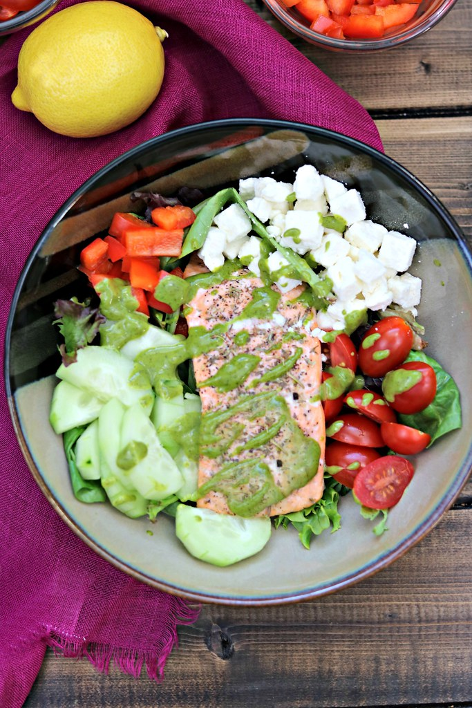 Greek Salmon Salad Vert Top