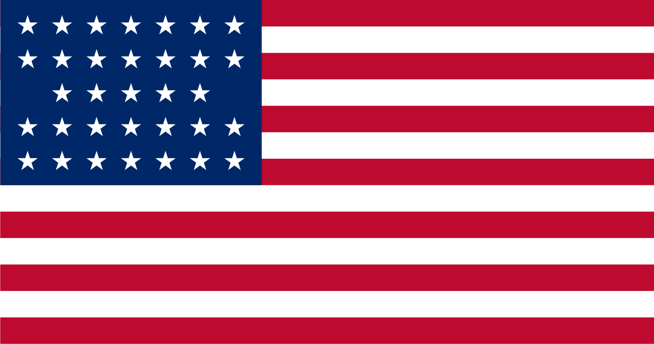 Flag of the United States (July 4, 1859 to July 3, 1861 - 33 stars)