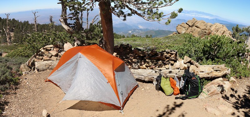 My Big Agnes Copper Spur UL1 tent at the Limber Pine Bench campground