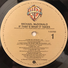 MICHAEL MCDONALD:IF THAT'S WHAT IT TAKES(LABEL SIDE-A)