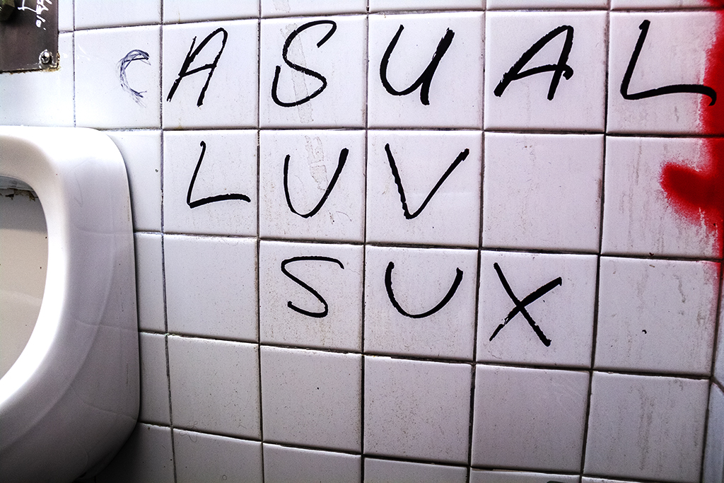 CASUAL LUV SUX in Dirty Frank's bathroom--Center City