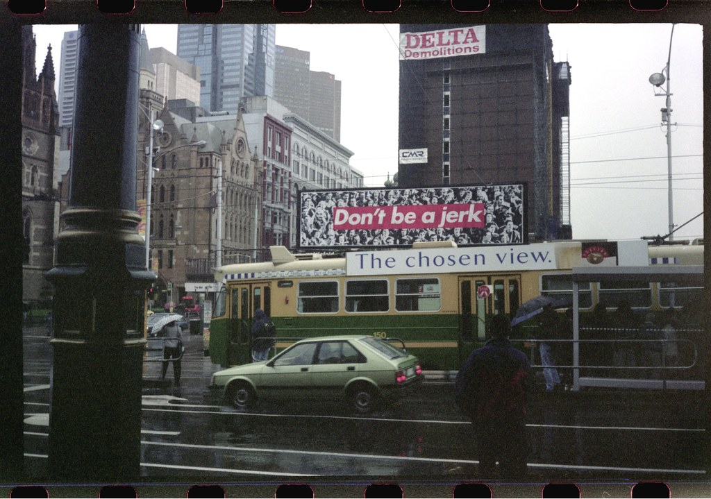 Don't be a jerk, Barbara Kruger - Melbourne, November 1996
