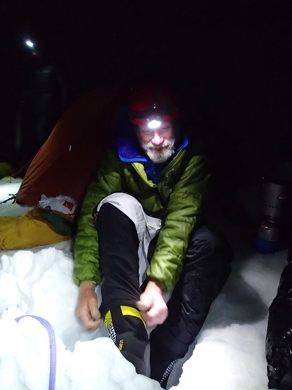 Mon, 2018-07-30 03:44 - Bill preparing for their ascent of Alpamayo