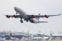 SAS A340-300 OY-KBD departing NRT/RJAA