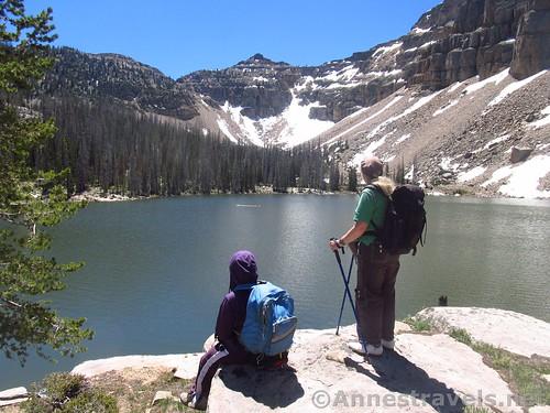 Ibantik Lake in the Uinta Mountains of Utah