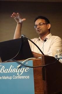 Vasu Chakkera at Balisage 2018