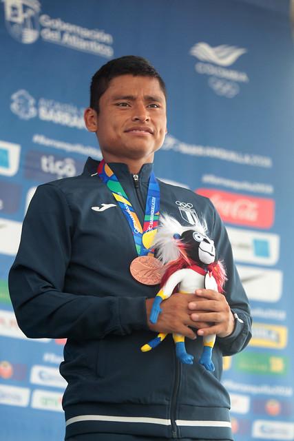 Premiación bronce Erick Barrondo en Barranquilla 2018