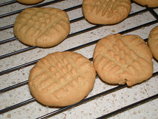 Mom's Warm Peanut Butter Cookies